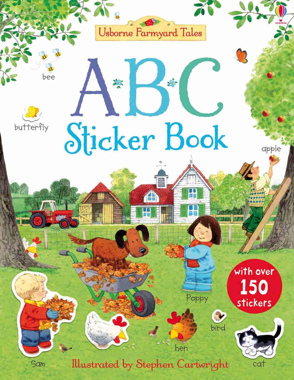 książka z naklejkami po angielsku do nauki alfabetu