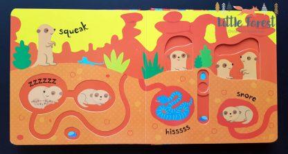 książka z ruchomymi elementami dla dzieci po angielsku