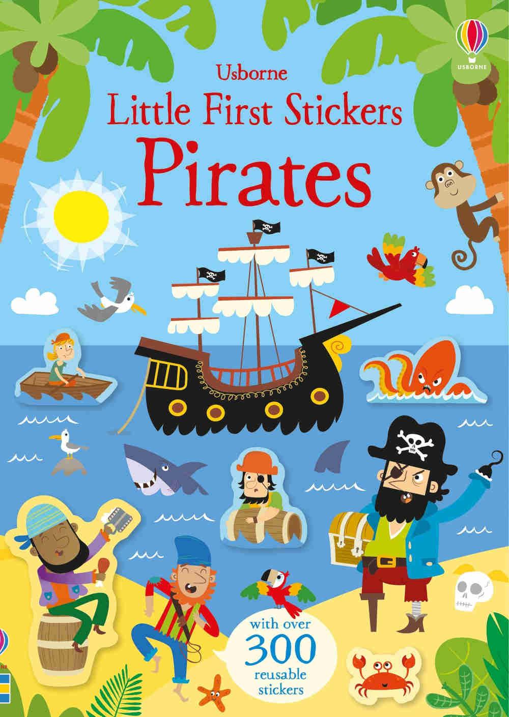 piraci ksiązki z naklejkami dla dzieci