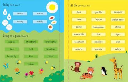 książka z naklejkami do naiki języka angielskiego