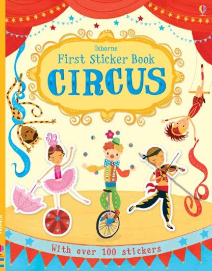 książka z naklejkami po angielsku cyrk