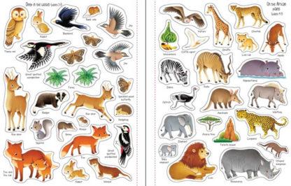 książeczka z naklejkami o zwierzętach