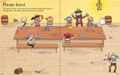 książka z naklejkami o piratach