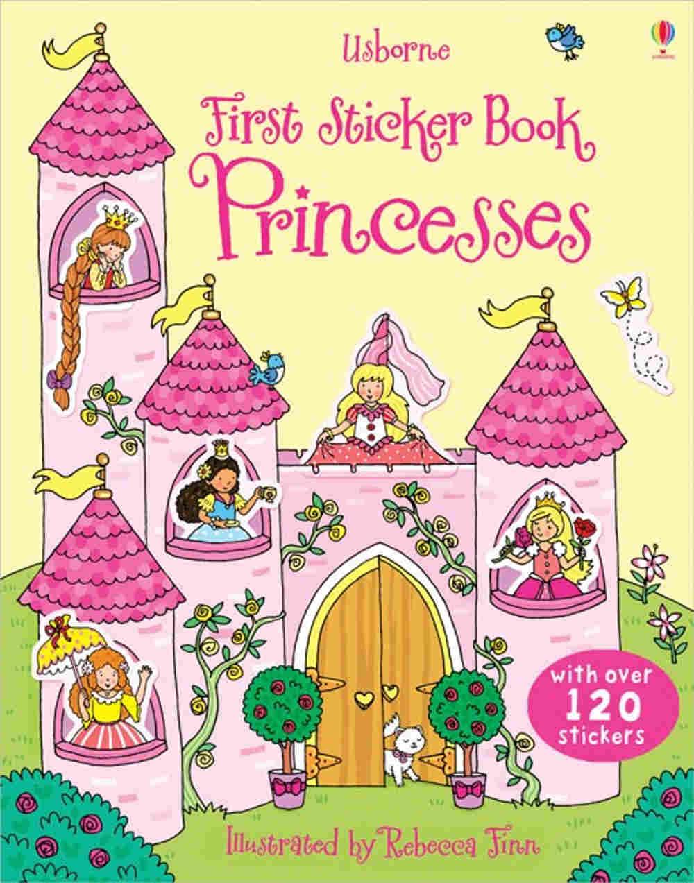 książka z naklejkami o księżniczkach