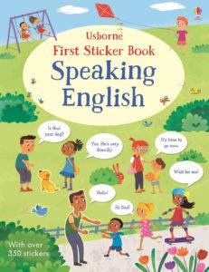 książka z naklejkami do nauki języka angielskiego