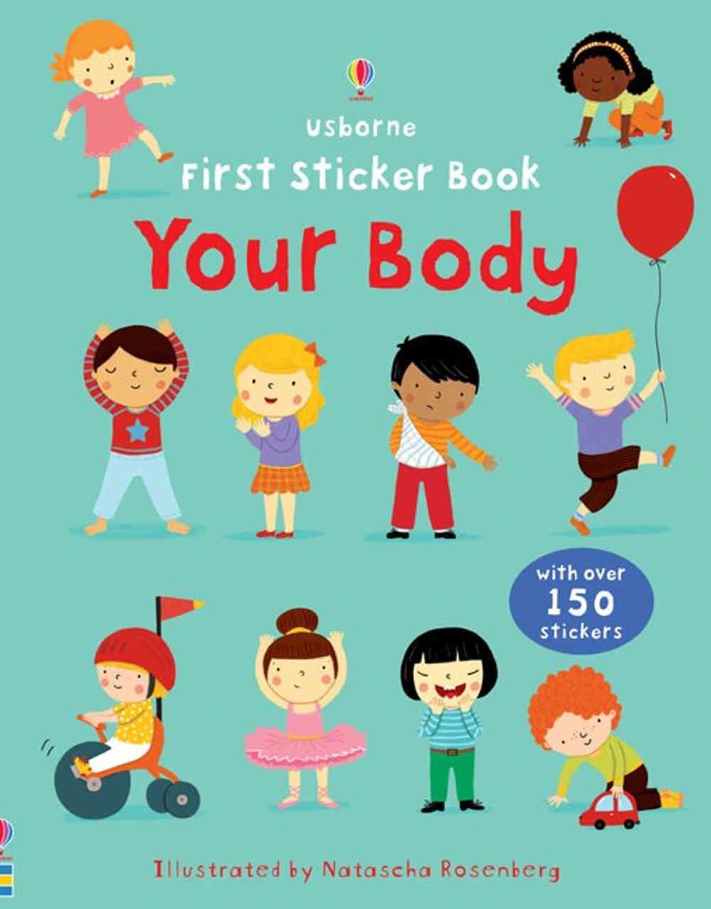 książka z naklejkami o ciele człowieka