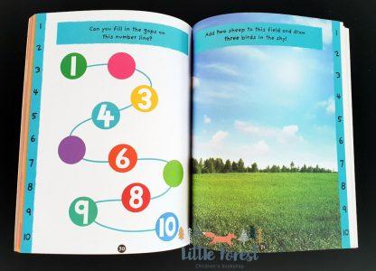 książka z naklejkami do nauki liczenia