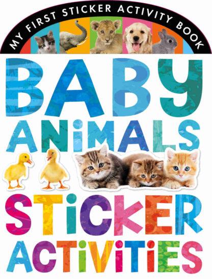 książka z naklejkami o zwierzętach