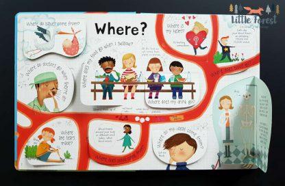 książka o ciele człowieka dla dzieci z okienkami po angielsku