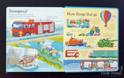 książka po angielsku o pojazdach i samochodach dla dzieci