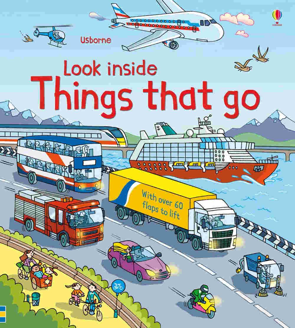 książka z otwieranymi okienkami o pojazdach i samochodach