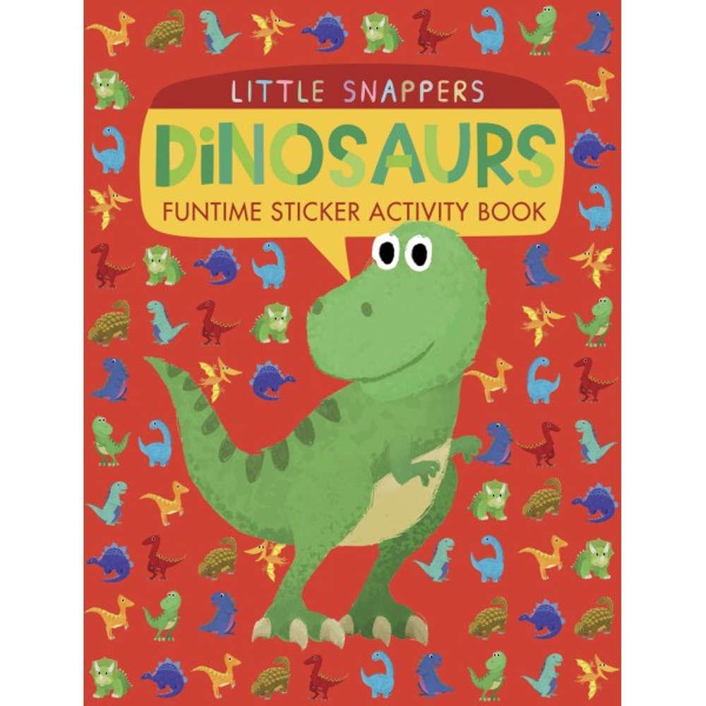 książka z naklejkami o dinozaurach