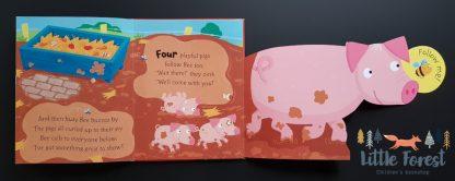 książka z rozkładanymi stronami dla przedszkolaka po angielsku