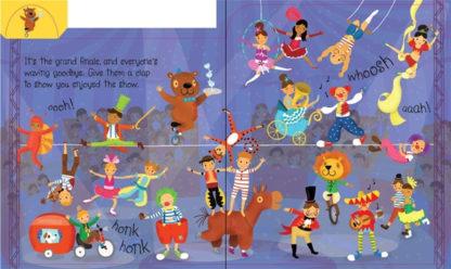 książka dźwiękowa dla dzieci cyrk