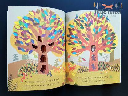 książka o porach roku dla dzieci po angielsku sensoryczna