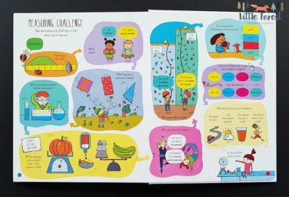 książka edukacyjna dla dzieci z okienkami do nauki miar i wag