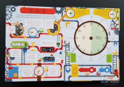 książka do nauki zegara dla dzieci po angielsku