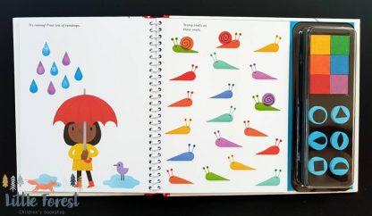 książka kreatywna dla dzieci ze stemelkami