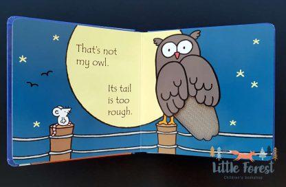 książka dotykowa dla dzieci o sowach