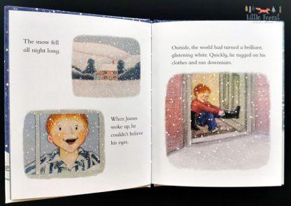 bajka do czytania dla dzieci po angielsku o bałwanku
