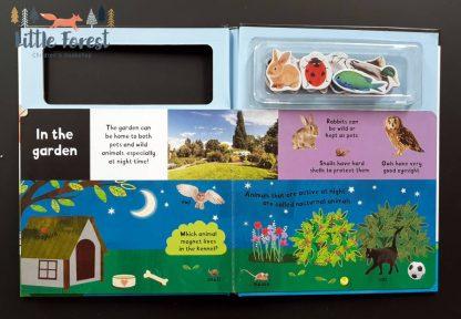 książka z magnesami dla dzieci po angielsku