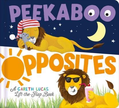 przeciwieństwa książka dla dzieci z okienkami po angielsku