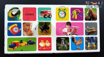 pierwszy słownik obrazkowy dla dzieci po angielsku z okienkami