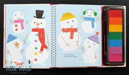 książka dla dzieci malujemy odciskami palców na boże narodzenie i święta po angielsku