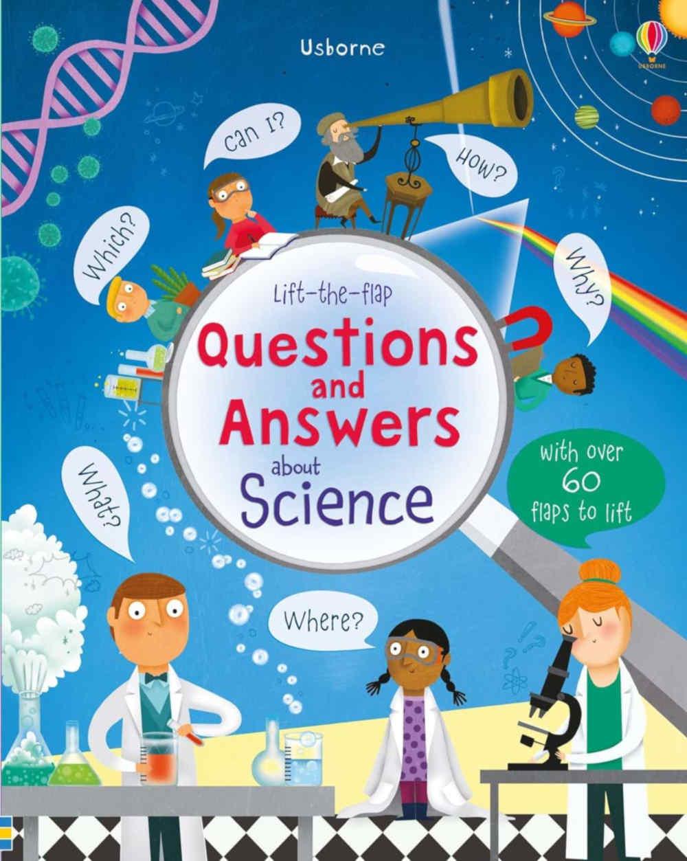 książka edukacyjna dla dzieci o wynalazkach i eksperymentach po angielsku z okienkami
