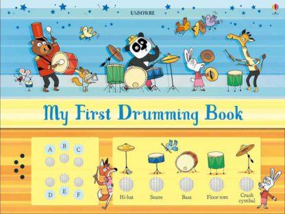 książka dla dzieci z perkusją i bębenkiem