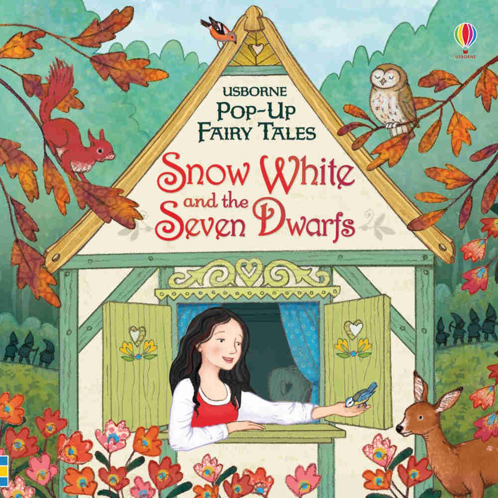 Królewna Śnieżka i siedmiu krasnoludków po angielsku trójwymiarowa