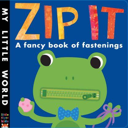książka sensoryczna uczy zapinać zamek, guzik, rzep