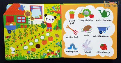 sensoryczna książka dla dzieci po angielsku do nauki pierwszych słówek