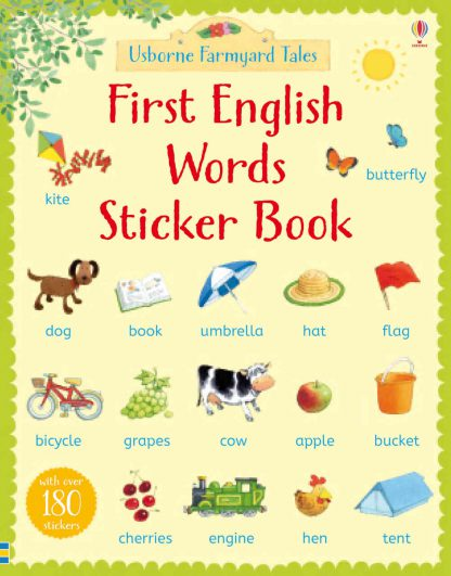 pierwsze słówka po angielsku książka z naklejkami