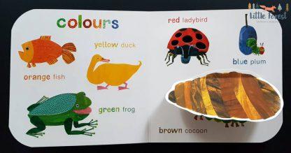 bardzo głodna gąsienica książeczka dotykowa sansoryczna po angielsku