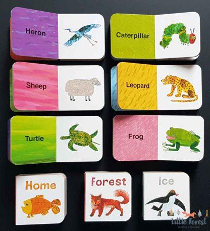 mini książeczki do nauki zwierząt po angielsku
