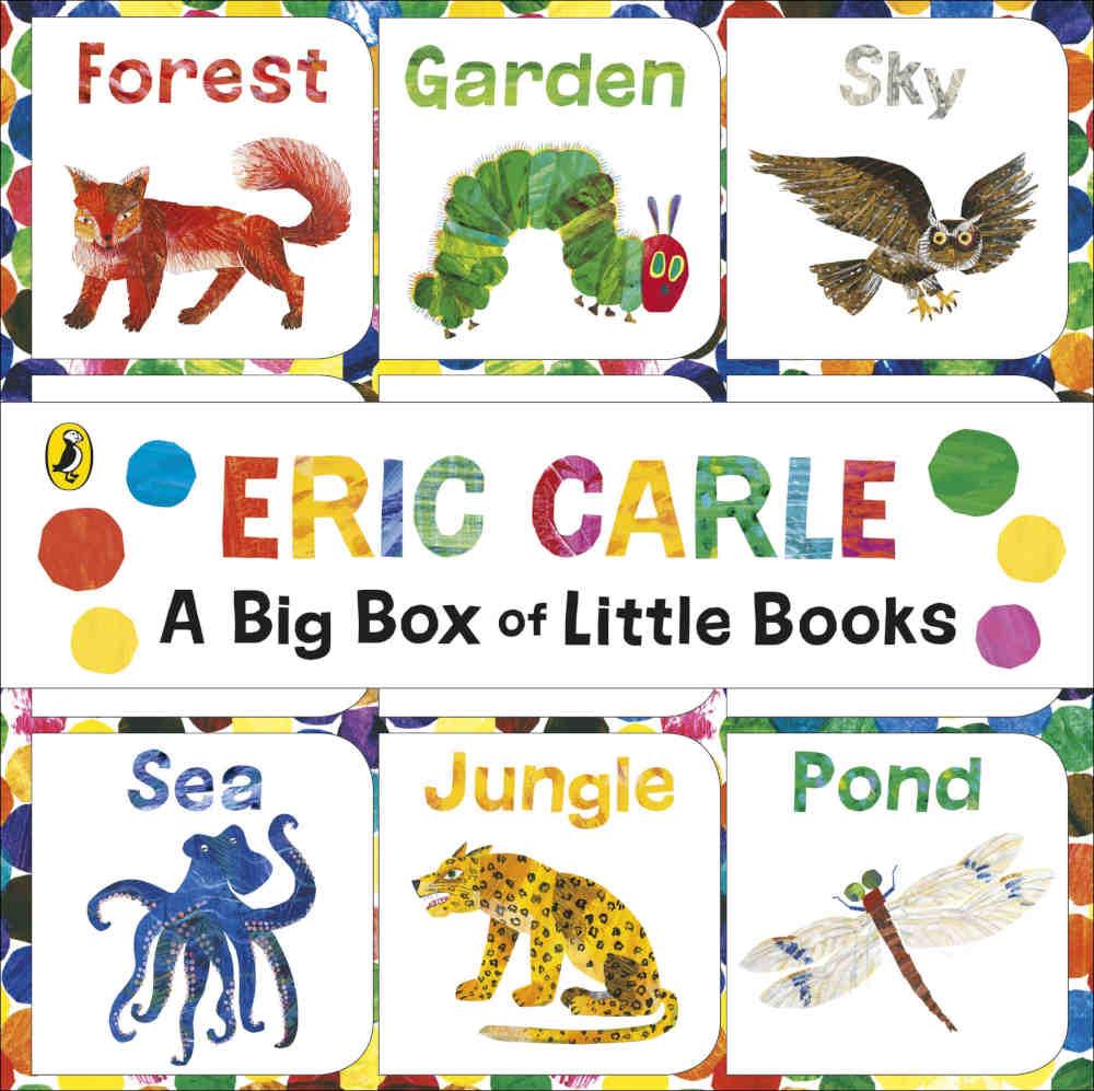 eric carle zestaw mini książeczek dla dzieci do nauki języka angielskiego