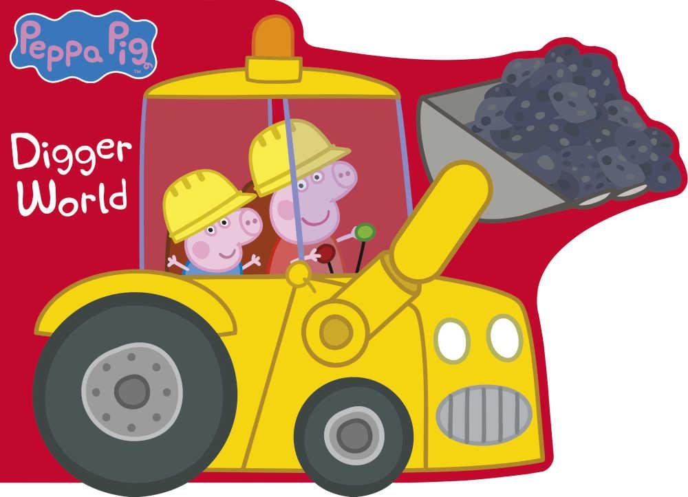 świnka peppa książka dla dzieci w kształcie koparki po angielsku