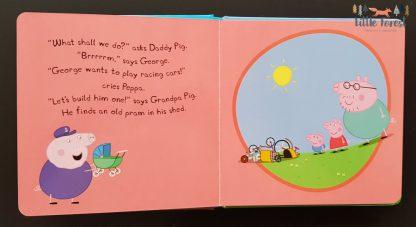 świnka peppa książka dla dzieci po angielsku wyścigówka george'a
