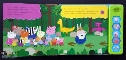 świnka peppa książka dźwiękowa dinozaury