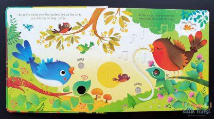 książka dżwiękowa dla dzieci odgłosy ogrodu