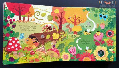 książka dżwiękowa dla dzieci odgłosy lasu