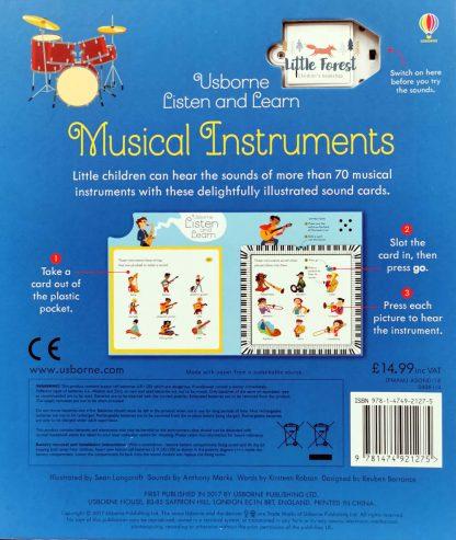 książka z dźwiękami instrumentów