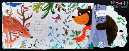 książeczka z okienkami usborne o zwierzętach na święta i pod choinkę