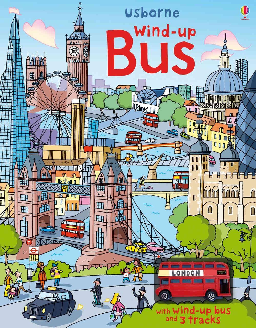 książka z nakręcanym autobusem londyn
