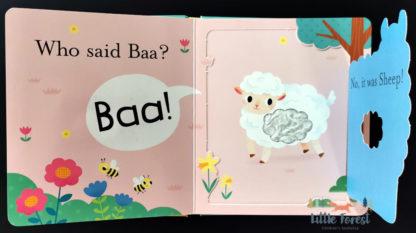 ksiązka dotykowa zwierząrka dla najmłodszych po angielsku