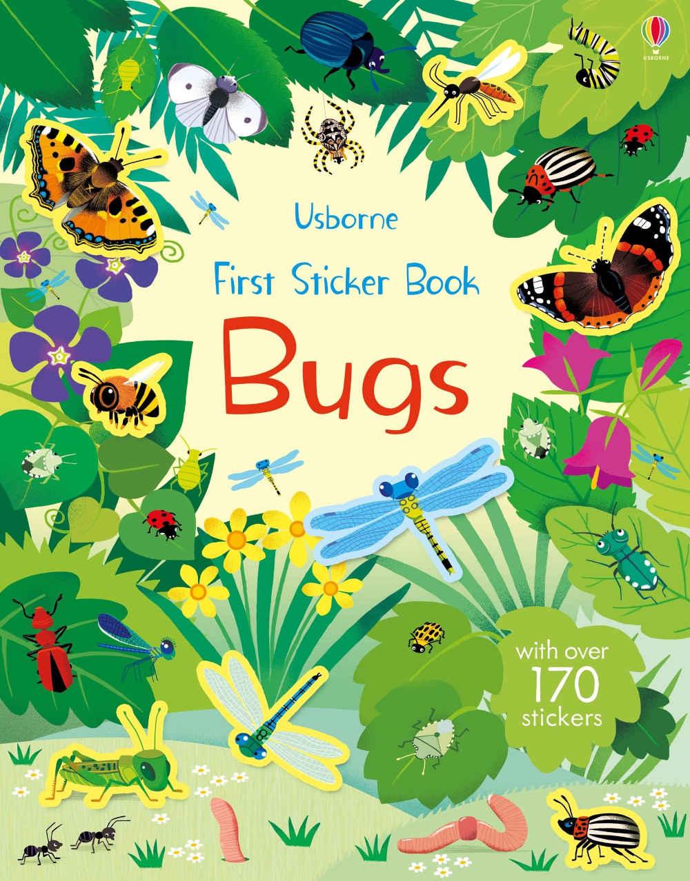 owady robaczki nakjlejki dla dzieci usborne