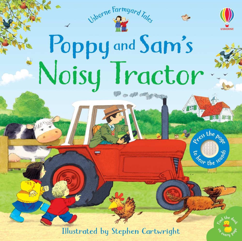 książka z dźwiękiem pojazdy traktor dla dzieci po angielsku