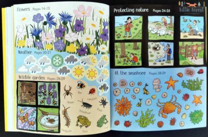 przyroda ksiązki z zadaniami i naklejkami po angielsku
