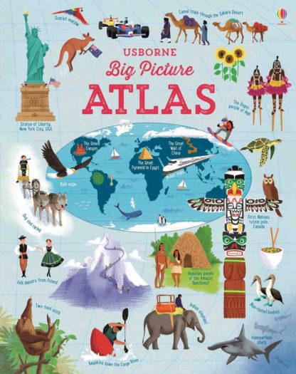 ilustrowany atlas świata dla dzieci po angielsku usborne